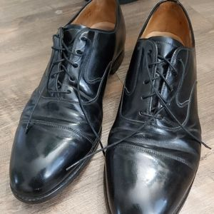 Johnston & Murphy black leather men's shoes limited collection size 10.5